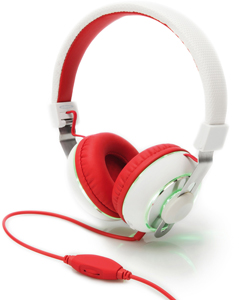 Headphone BeatLight On-Ear,Farbwechseltaste, Weiss