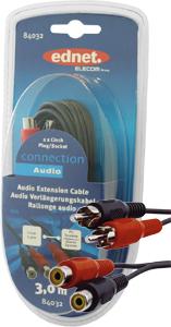 Cinch Kabel   2xST2xBU  3m,2xCin.Stecker-2xCin.Buchse