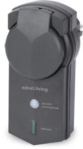 Outdoor receiver unit, Black,ednet.living Smart Plug
