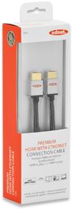 HDMI/A Kab.ST-ST   5m Ethernet,Goldk., 3D, silber/schwarz