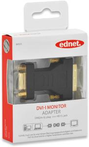 Adapter DVI-I STVGA BU,DVI-I Stecker  DSUB15 Buchse