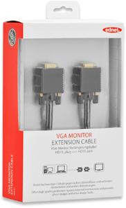 Monitor Verl. 3m HD15BU/STFE,UL, bl, cotton, gold