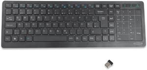 Tastatur mit Touchpad,schwarz, kabellos, 2,4 GHz