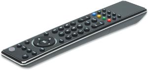Fernbedienung Universal 8 in 1,für TV/SAT/DVD, Schwarz