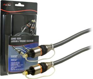 Digital Audio Kabel 10M,ToslinkToslink,Goldk,Blister