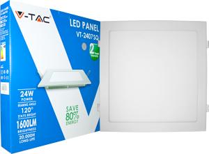 LED Downlight 24W Warm Weiß,SKU 4887, 1600lm 300x300x25mm