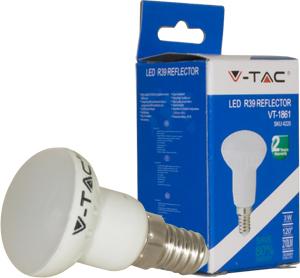 LED Bulblight E14 3W Naturw.,SKU 4220, 210lm, 120°, 39x67mm