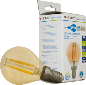 LED Bulblight E14 4W Warmweiß,SKU 4499, 350l, 300°,Amber,P45