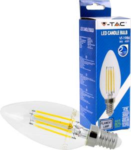 LED Kerze E14 4W Warmweiß,400lm,300°,Retro Design,Glatt
