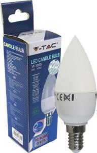 LED Kerze E14 6W Naturweiß,SKU 4258, SMD Chip, 470lm,180°