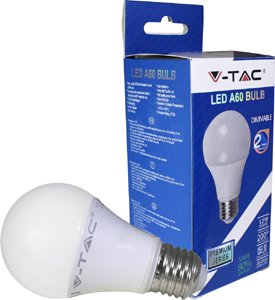 LED Bulblight E27 12W Warmweiß,SKU 4275, 1055lm, 200°,Dimmbar