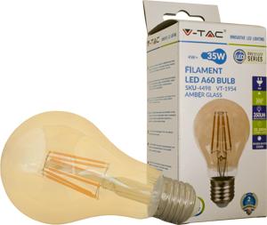 LED Bulblight E27  4W Warmweiß,350lm, 300°, Amber Design, A60