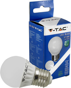 LED Bulblight E27  4W Warmweiß,300lm, 180°, P45