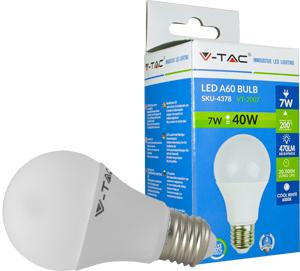 LED Bulblight E27  7W Naturw.,SMD Chip, 470lm, 200°