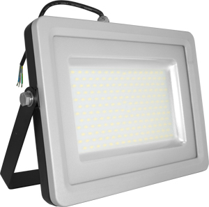 LED Fluter100W Naturw. IP65,8000lm, Black/Silver