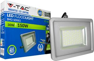 LED Fluter 30W Naturw. IP65,2400lm Leuchtkraft, Black/Sil.
