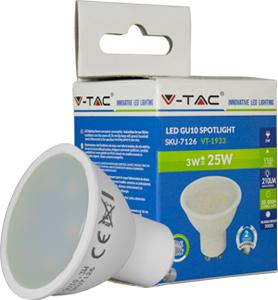 LED Spot GU10 3W Warmweiß,SKU 7126, 210lm, 110°, 50x57mm