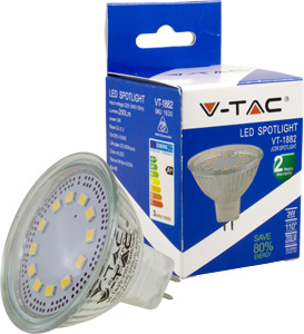LED Spot GU5.3 3W Kaltweiß,200lm, 110°, MR16, 230V