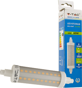 LED Bulb R7S, 10W, Warmweiß,SKU 4369, 1000lm,360°,25x118mm