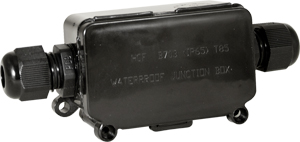 Wasserdichte Box f. LED Fluter,SKU 3578, Schwarz, eckig