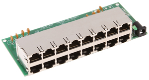 19 PoE Injector Modul 8Port,12-30Volt 300mA per Port