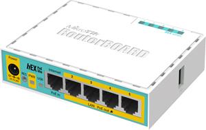 ROUTER 5x10/100 + PoE Output,hEX PoE Lite RouterOS L4