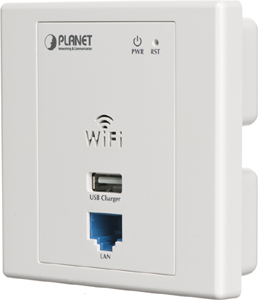 Planet WNAP-W2200 00Mbps 802.11n WLAN In-wall PoE Access Poi